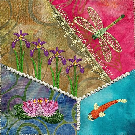 Embroidery stitches crazy quilt quilting pinterest