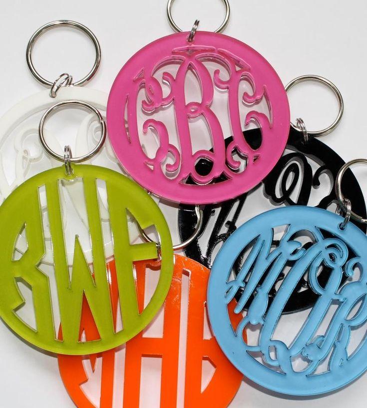 adorable acrylic monogram keychains