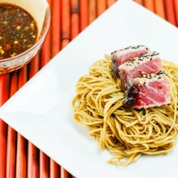 sesame noodles peanut sesame noodles sesame seared tuna with soy lime ...