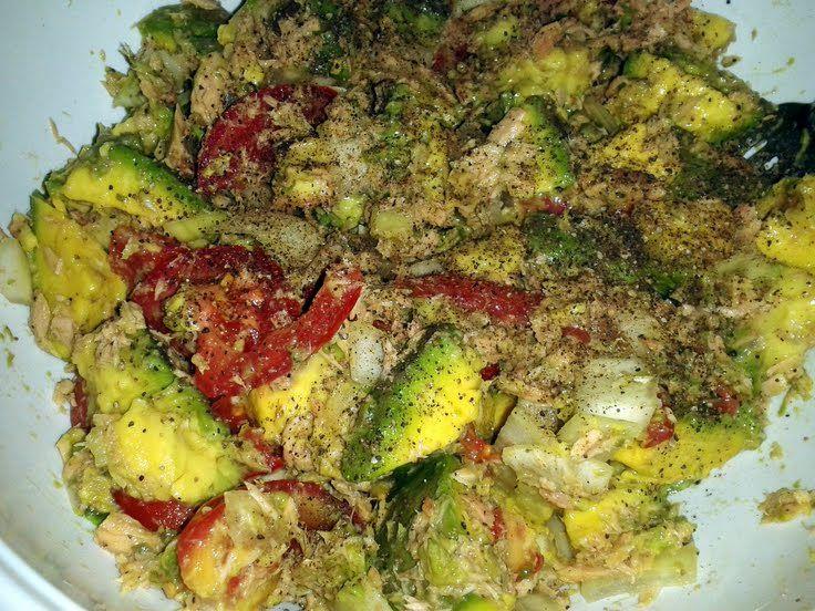 Creamy Avocado Tuna Salad! @allthecooks #recipe #avocado #tuna