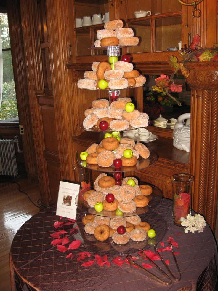 Apple Cider Donut Wedding Cake | Wedding Ideas | Pinterest