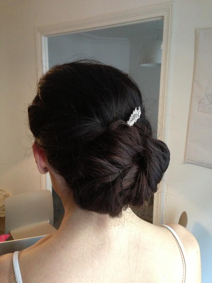 Wedding hair trial | Wedding hair - make up - styling | Pinterest