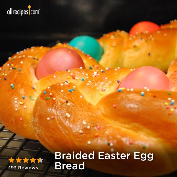Braided Easter Egg Bread | This decorative Easter bread has whole eggs ...