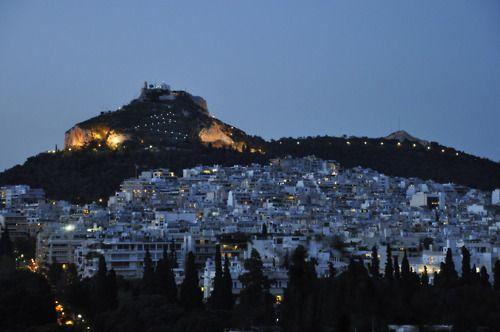 Λυκαβητος ~ The hill of Likavitos, Athens  Αθηναικες νυχτες ~ Athenian nights  by varkos