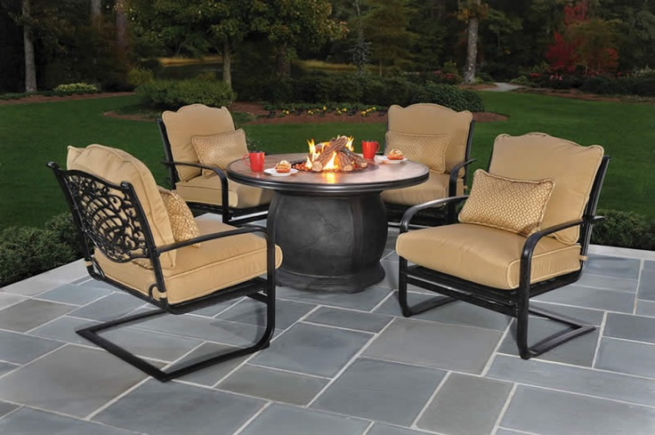 Patio firepit set http www treesntrends com products patio furniture