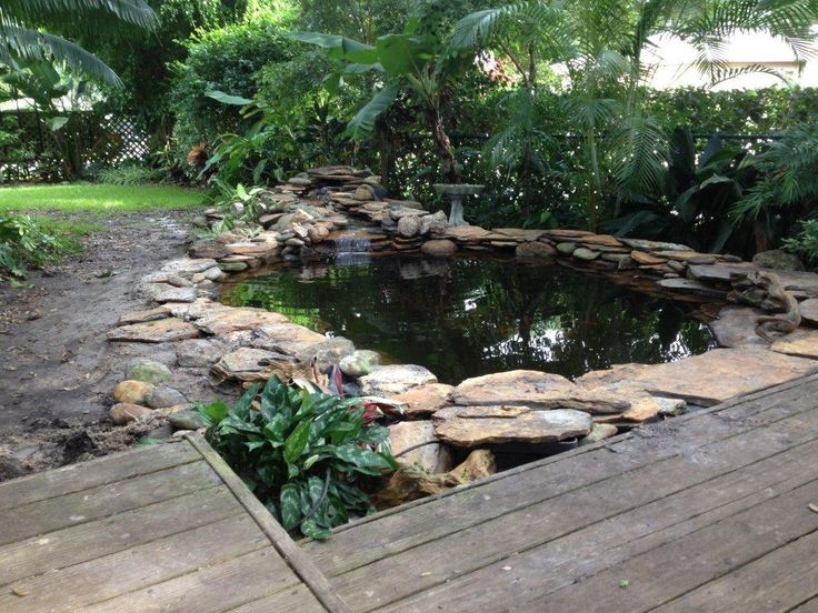 Pin by rebecca de priest on chosen pinterest for Garden pond design and construction