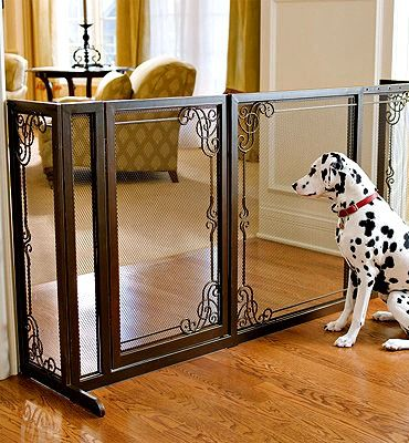 A decorative alternative to standard pet barriers and are designed to enhance your home's fine décor while keeping pets safely out of the way.
