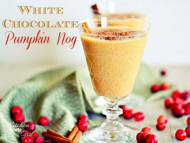 Lightened Up White Chocolate Pumpkin Nog #recipe #beverages www ...