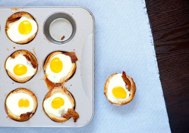 Bacon, Egg and Toast Cups | Recipe