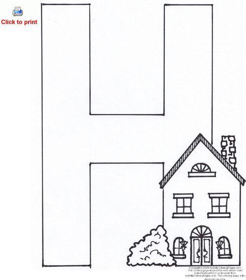 pre k letter coloring pages - photo#36