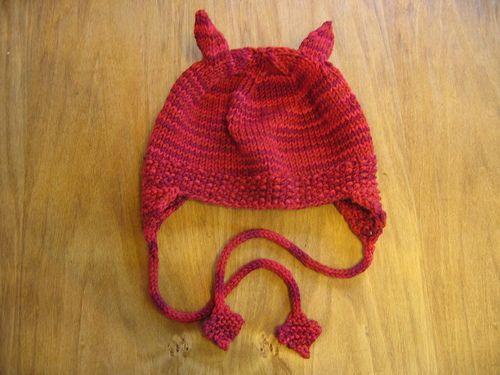 Free pattern pussy cat hat knit odds ends pinterest - Free cat hat knitting pattern ...