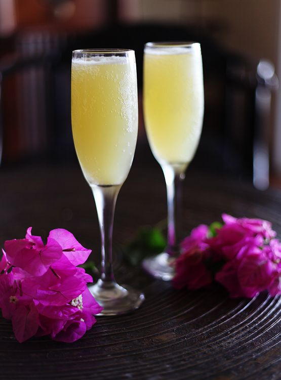 cocktail is 3 parts Champagne or sparkling wine : 1 part pineapple ...