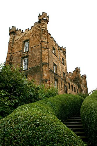 Lumley Castle is a 14th-century quadrangular castle at Chester-le-Street near the county of Durham and a property of the Earl of Scarbrough.