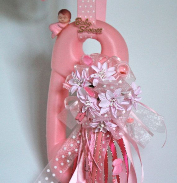 jumbo baby diaper pin baby shower necklace corsage baby shower decor