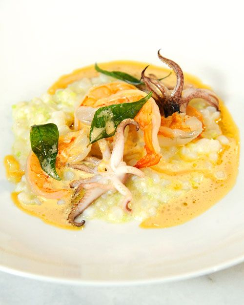 Risotto'' with Squid, Shrimp, and Curry Leaves | Recipe