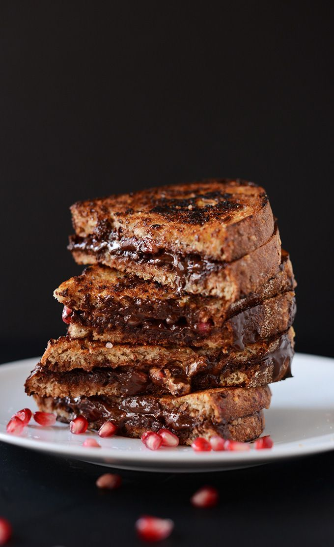 Grilled Almond Butter Chocolate Pomegranate Sandwich