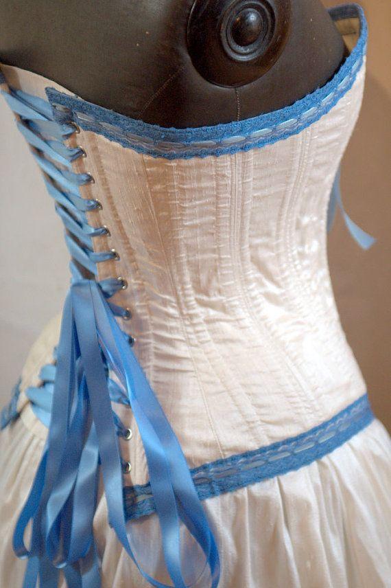 popular pictures blue corset bridal dresses