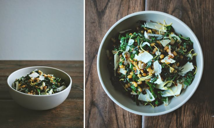 wheat berry, rye & kale salad with shaved parmesan and lemon ...