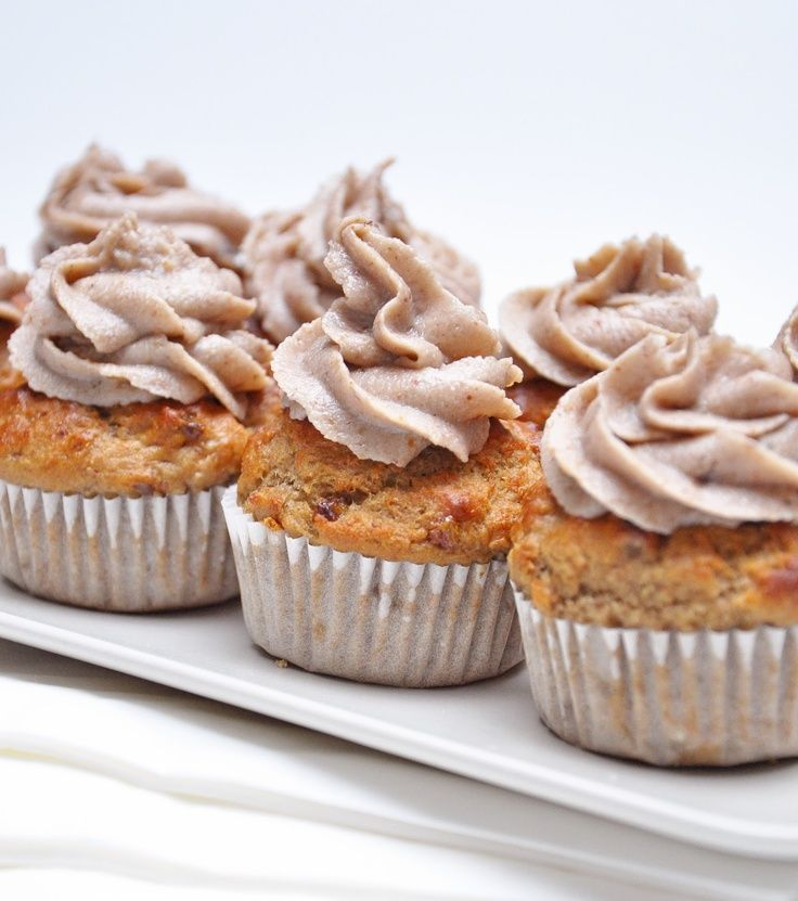 Vegan Banana Bread Muffins with Healthy Banana Frosting from the ...