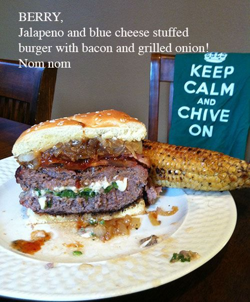 Jalapeno Cheeseburgers With Bacon And Grilled Onions Recipes ...