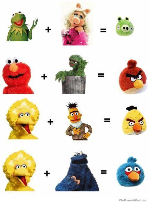 sesame-street-equals-angry-birds.jpg 500×679 pixels