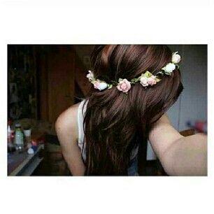 Flower crown tumblr girl - photo#25
