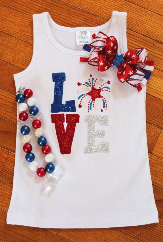 fourth of july bow shirt