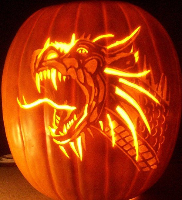 pumpkin dragon carving halloween pumpkins scream in