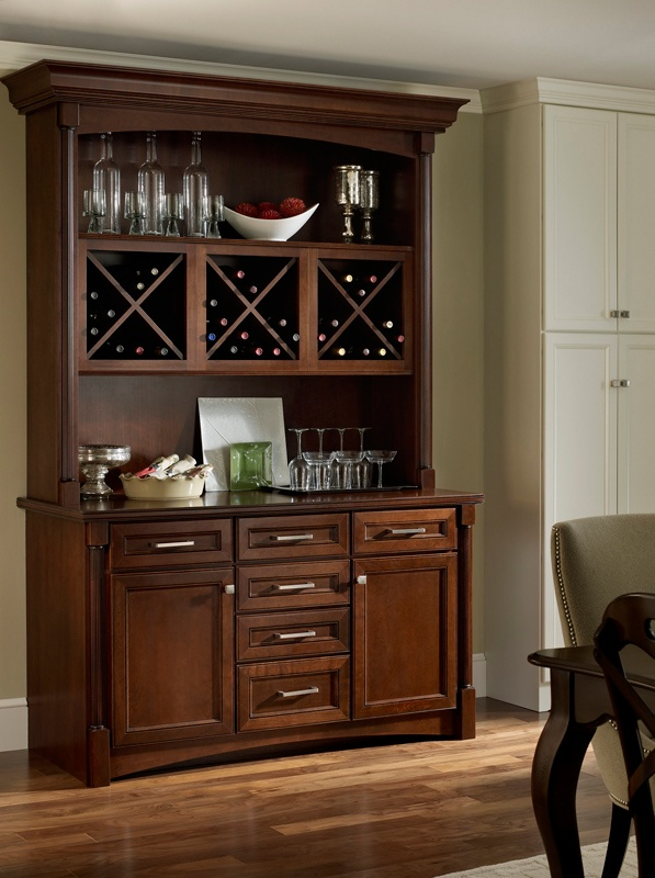 Built In Hutch With Wine Storage For The Home Pinterest