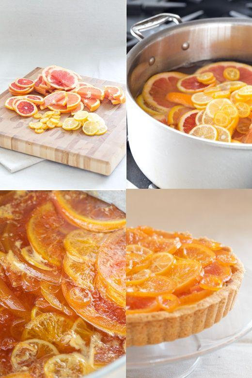 Late Winter Tart by alittlezaftig: Candied citrus, custard, dark ...