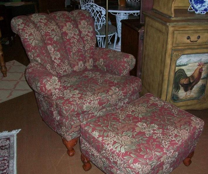 Overstuffed chair and ottoman set overstuffed chair and for Overstuffed armchair