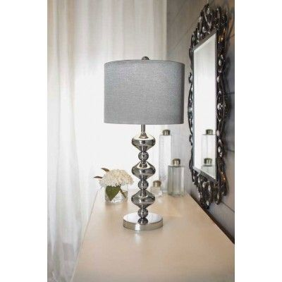 silver table lamps living room pinterest