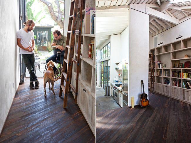 The Sunset Lane: Diagonal Wood Flooring