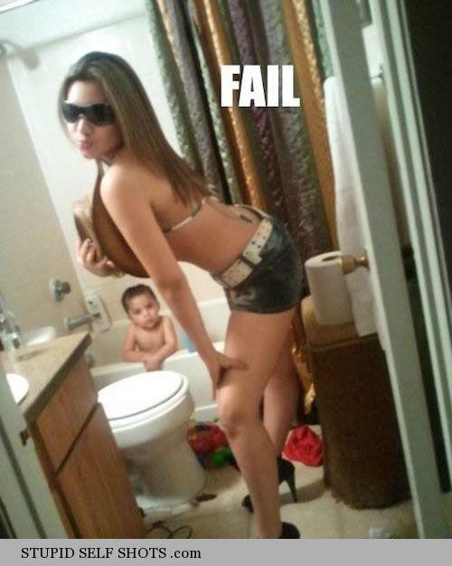 Parenting Fail Bathroom Self Shot