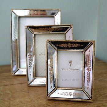 Venetian Style Gold Mirror Photo Frame