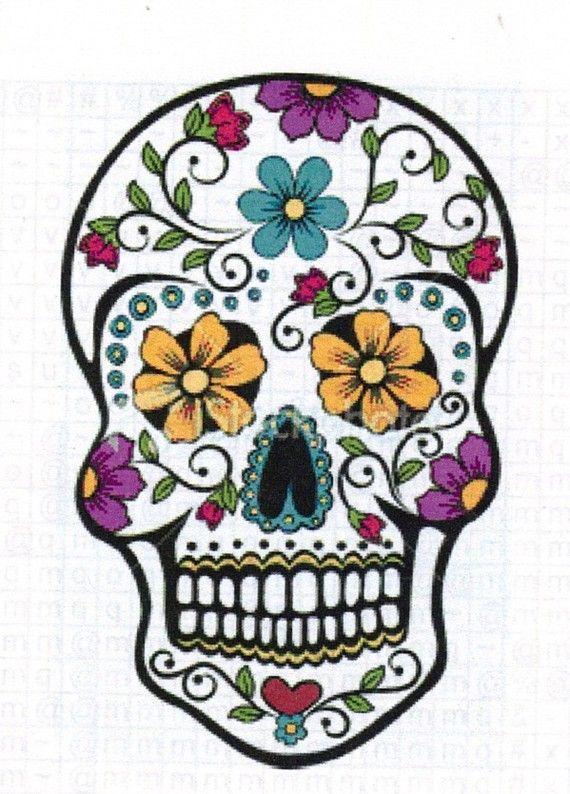 Sugar Skull Counted Cross Stitch Chart Pattern Pdf
