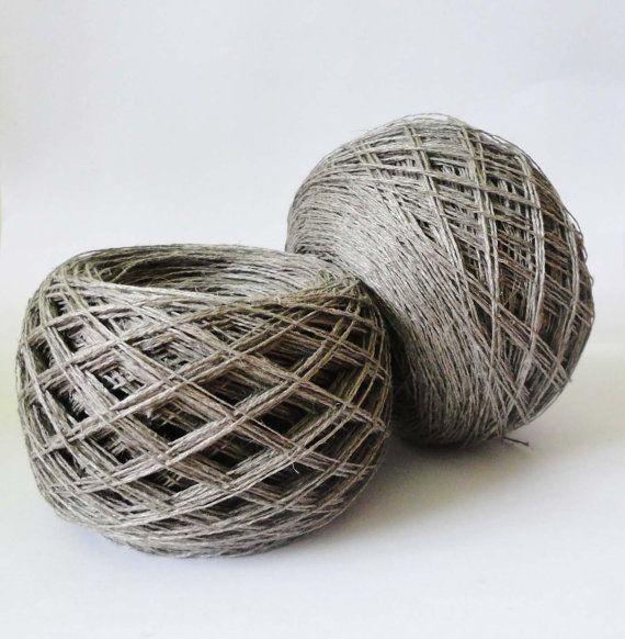 Linen yarn, linen thread, natural linen, natural 3ply yarn, linen