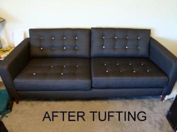 IKEA Karlstad Sofa Goes Mid Century Modern Thanks To Tufting