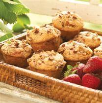 Double Strawberry Pecan Muffins (made with strawberry yogurt ...