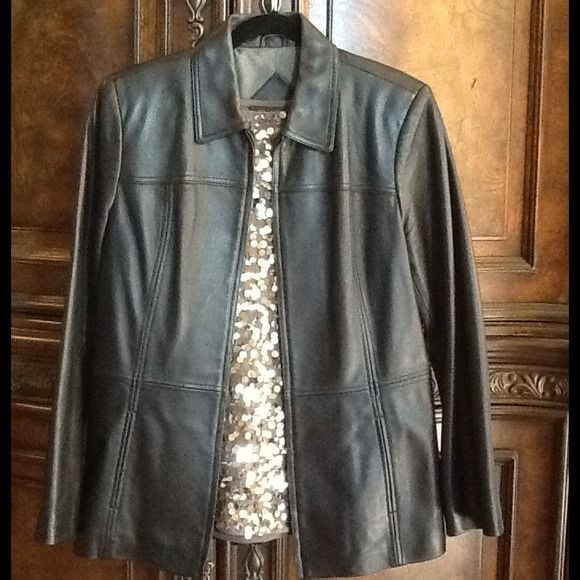amp; Jackets - Genuine Leather Bomber Jacket XL - excellent condition