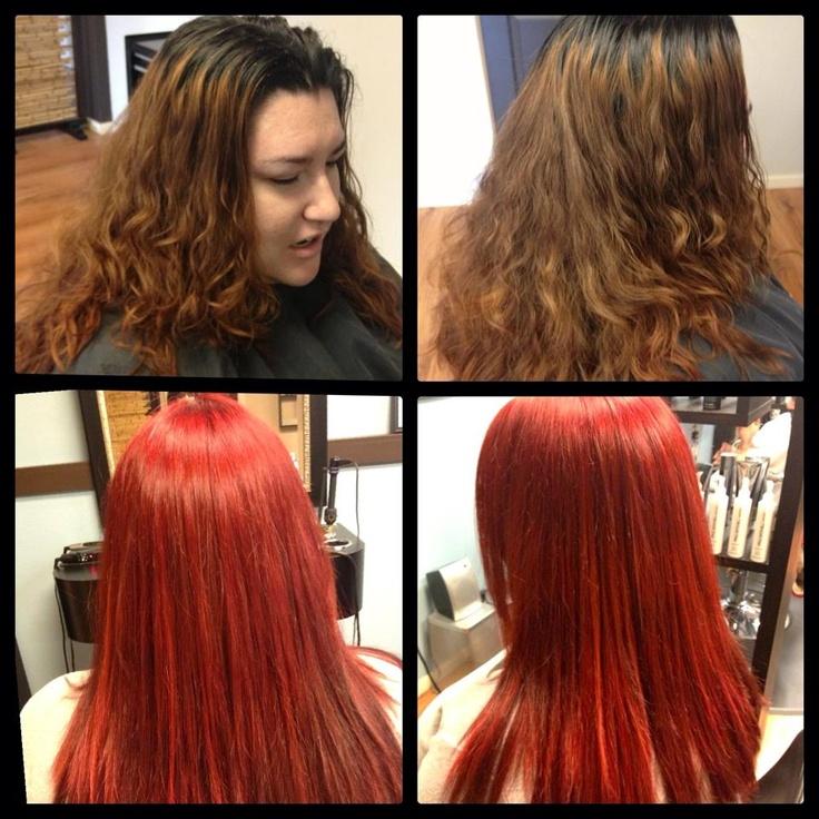 Lianne deaderick pre lightened hair with 20v 10v at scalp then 6rr