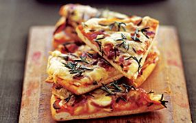 Roasted potato and red onion pizza | Delish | Pinterest