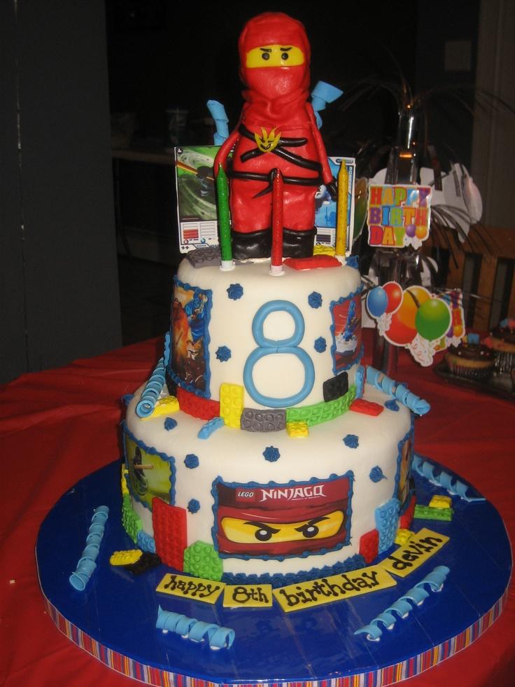 Lego Ninjago Birthday Cake  Cameron Birthday Ideas  Pinterest