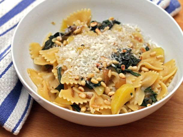 Farfalle with golden beets and pine nuts | Noodles & Pasta | Pinterest