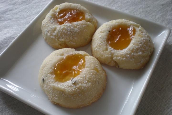 Apricot Cream Cheese Thumbprints | desserts | Pinterest