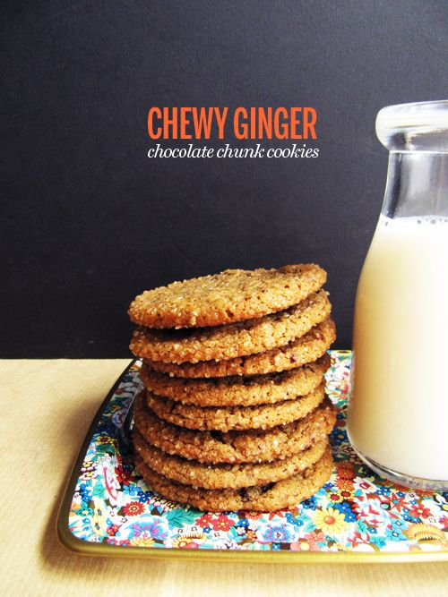 chewy ginger chocolate chunk cookies | Baking and Sweets | Pinterest
