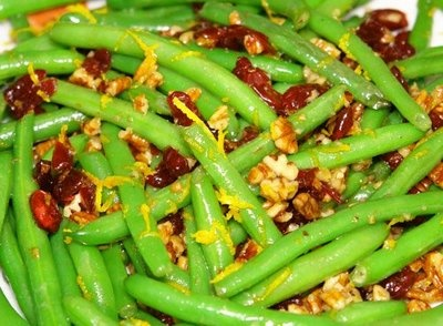 Green Beans with Pecans and Cranberries | Bon Appetit | Pinterest