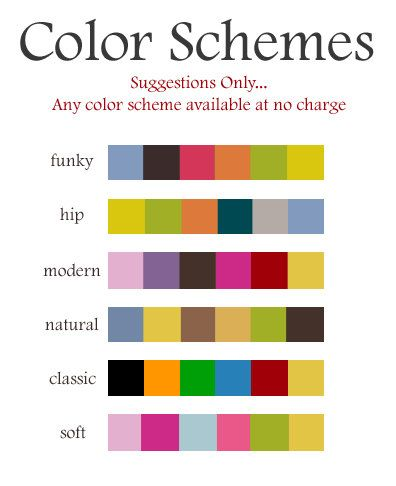 color schemes for type lifetime of learning