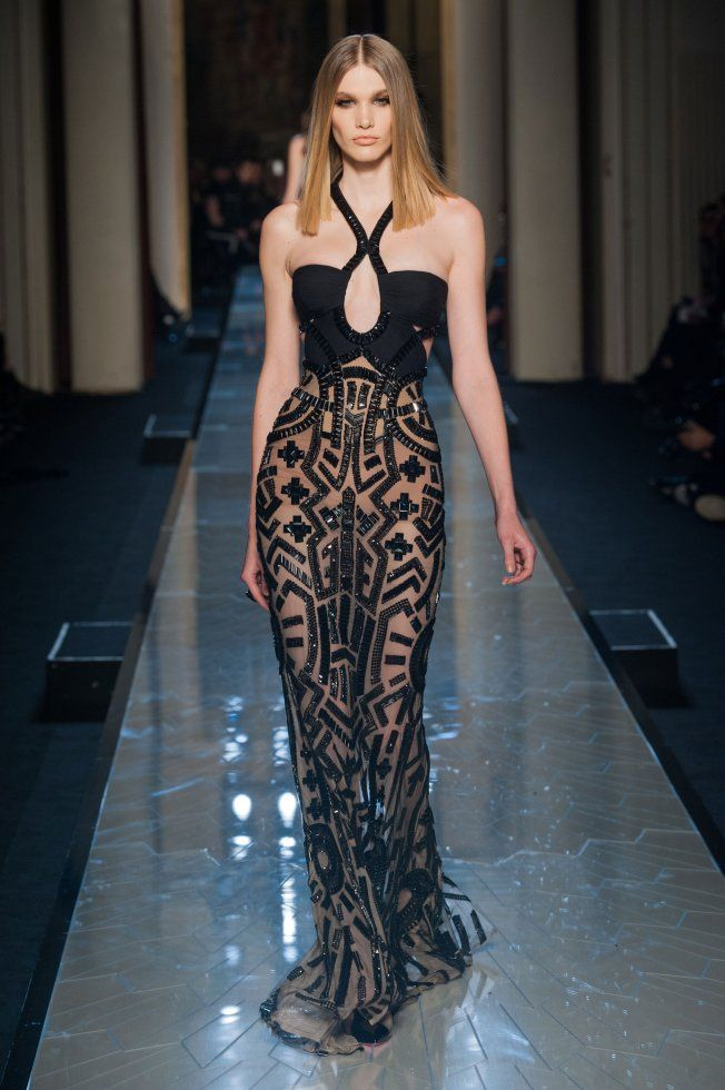 D fil versace haute couture printemps t 2014 for Couture clothing