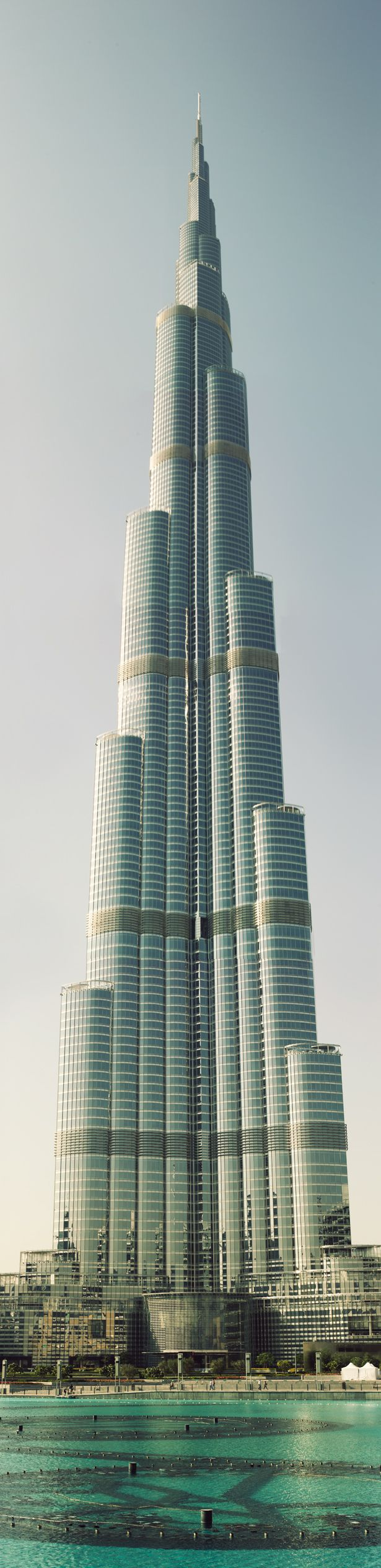 Tallest building in the world, The Burj Khalifa in Dubai.